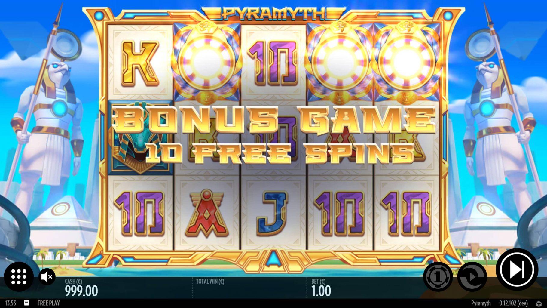 Pyramyth Bonus Game