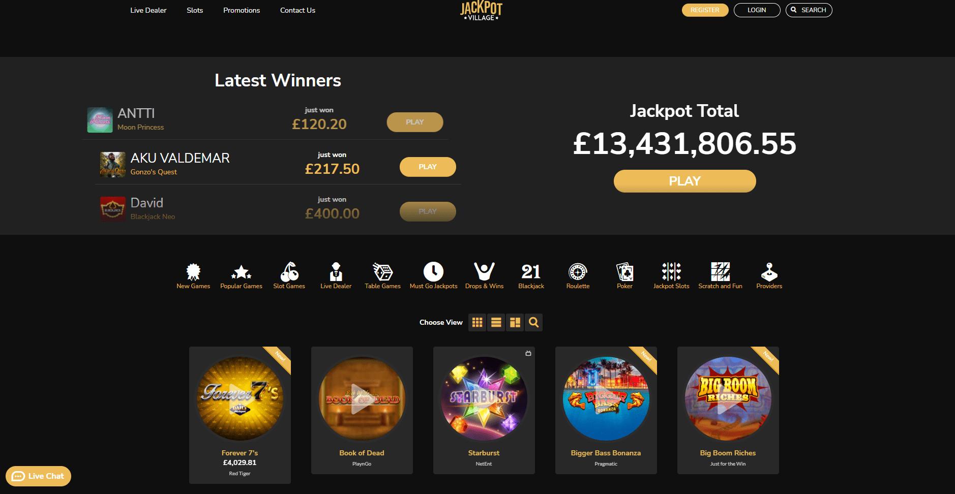 jackpot village jackpots