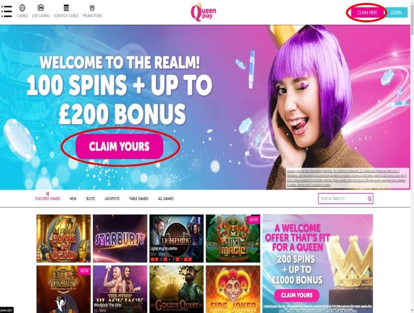 Queen Play Casino Sign Up Bonus