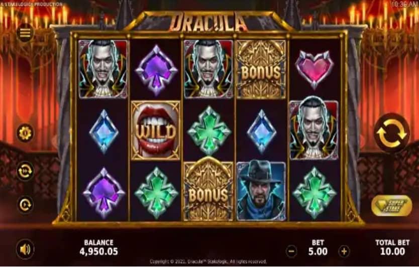 dracula slot base game