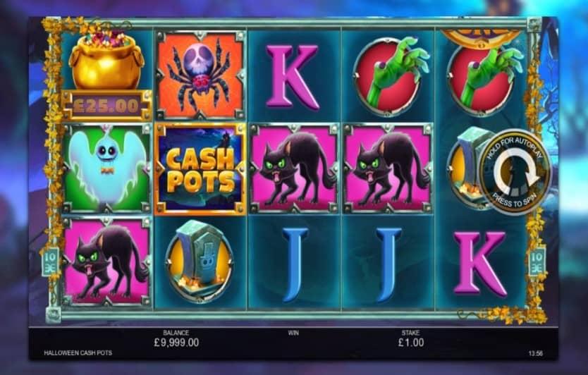 Halloween Cash Pots Slot Game