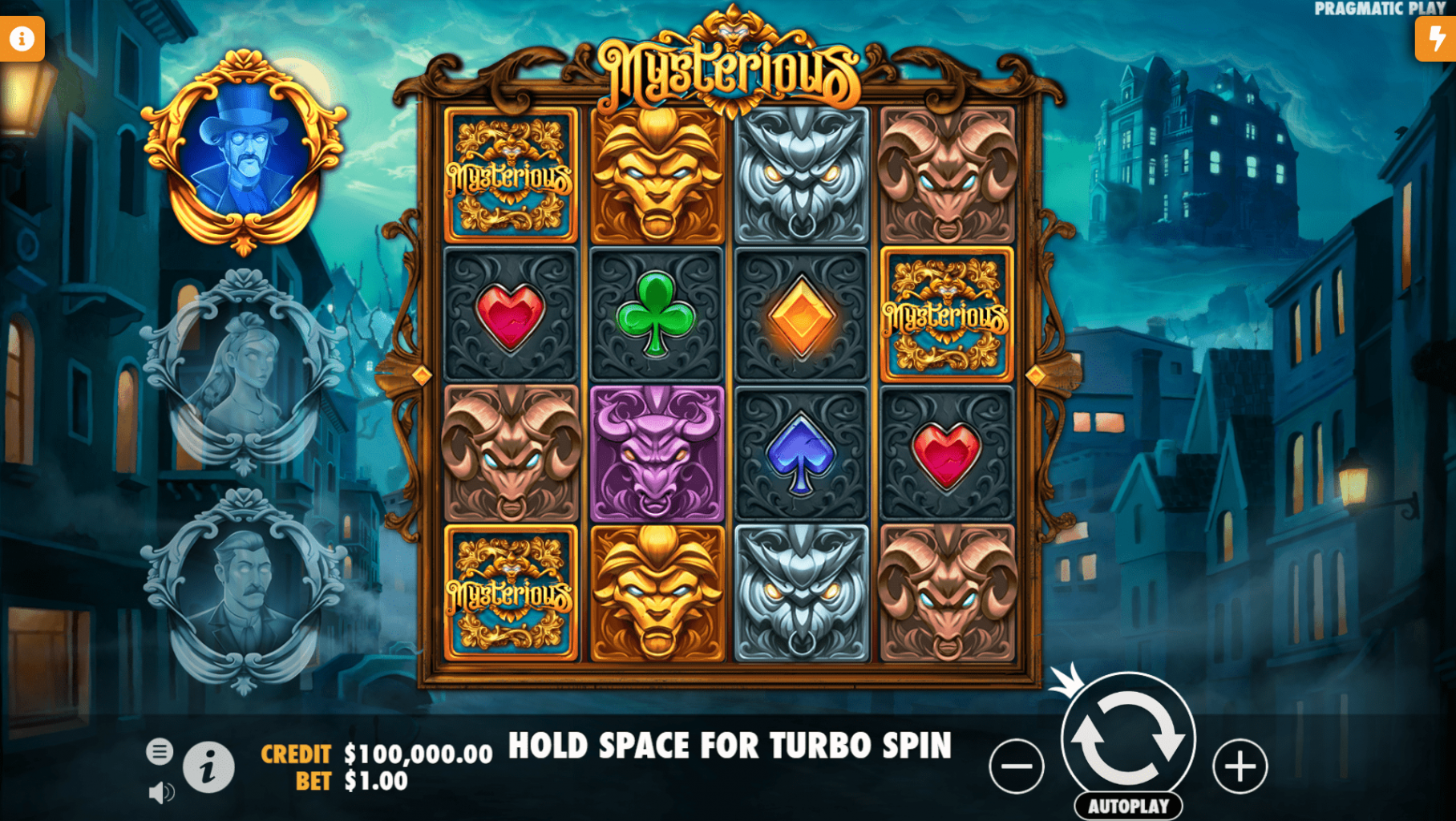 Mysterious slot base game